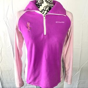 Columbia pink sweater with 🎀